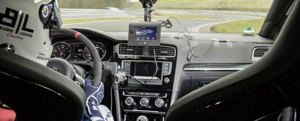 Volkswagen Golf GTI si recordul de la Nurburgring. PROBA VIDEO.