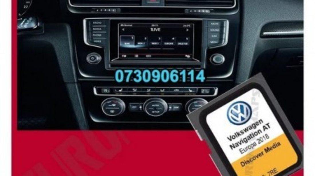 Volkswagen Golf Passat SD Card Harta DISCOVER MEDIA ROMANIA+Eu 2020