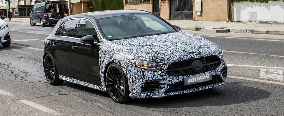 Volkswagen incepe sa tremure. Noul Mercedes A35 AMG, surprins chiar inaintea lansarii oficiale