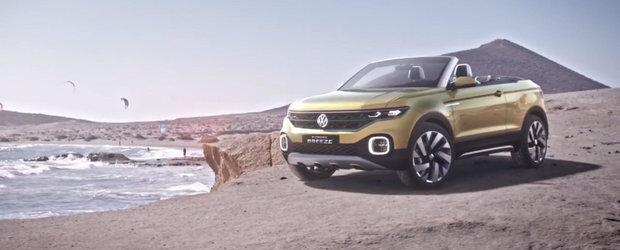 Volkswagen lanseaza un crossover decapotabil cu motor de 1 litru. Momentan doar sub forma de concept...