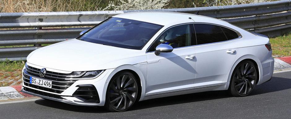 Volkswagen nu a glumit cand a spus ca lanseaza un Arteon R. Asa arata acum super-coupe-ul cu patru portiere si 333 de CAI sub capota