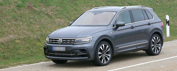 Volkswagen nu a glumit cand a spus ca lanseaza un nou model din seria R. Fotografii l-au surprins complet necamuflat