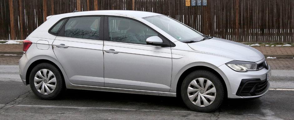 Volkswagen pregateste un facelift pentru cel mai ieftin vehicul pe care il vinde acum in Romania. Noul model, surprins complet necamuflat in teste