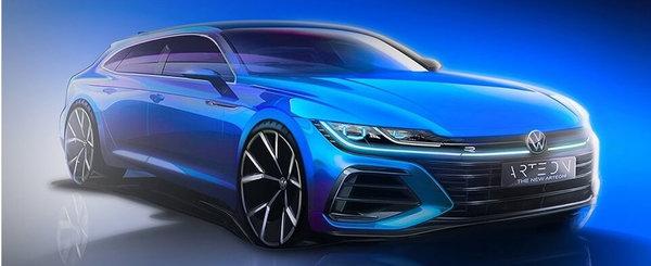 Volkswagen publica, in sfarsit, prima fotografie oficiala a mult anticipatului Arteon Shooting Brake