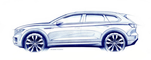 "Volkswagen publica primele detalii oficiale despre noul Touareg. ""Va vira si cu rotile spate"""