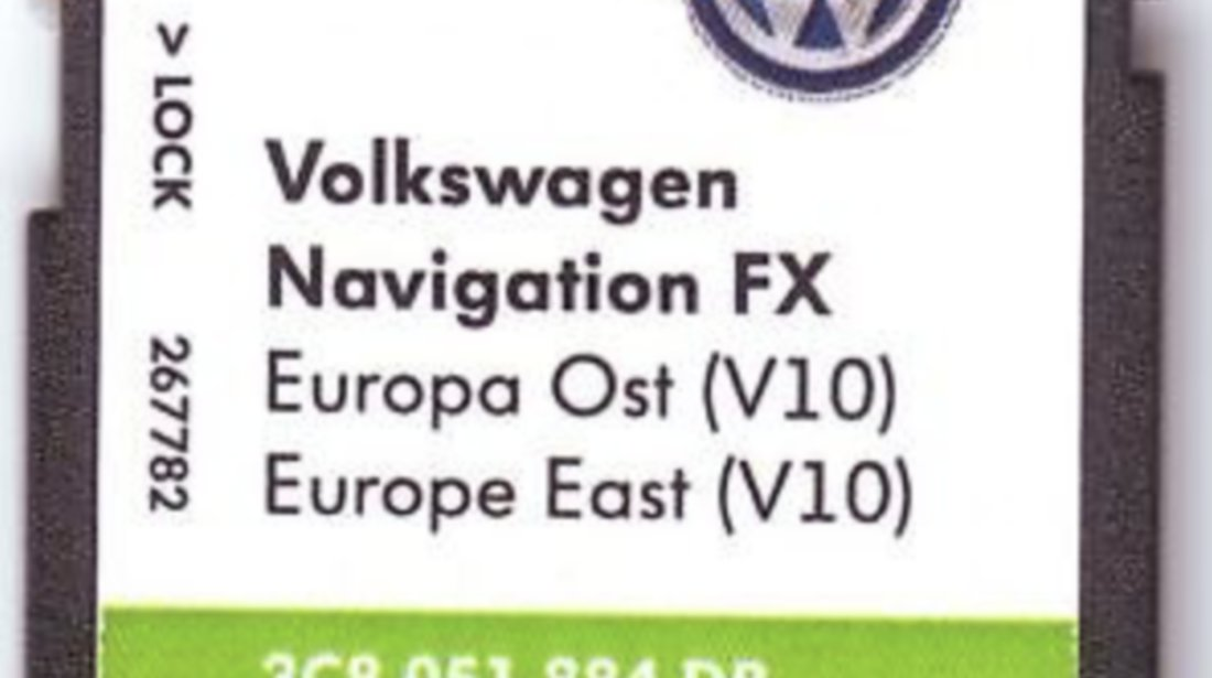 Volkswagen VW RNS310 SD CARD harta navigatie EUROPA de Est 2018 V10