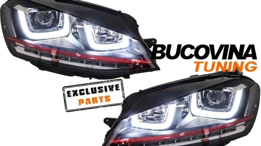 VW GOLF 7 GTI R20 FARURI LED + GRILA GTI R20