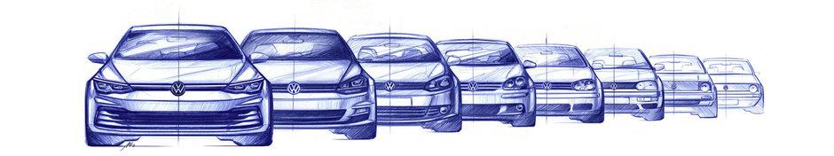 VW Golf 8 - Schite noi