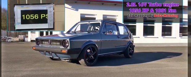 VW Golf Mk1 de 1056 cp vs. Yamaha R1 de 182 cp: pe cine pariezi?