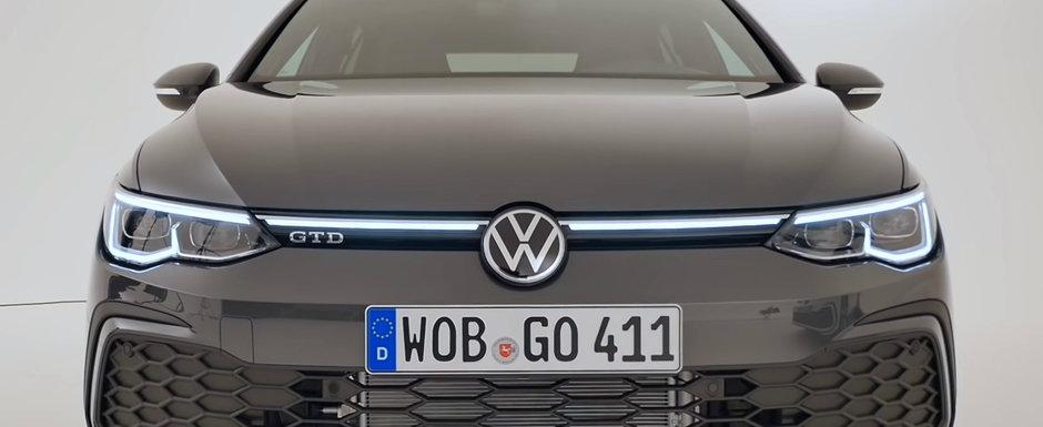 VW lanseaza masina asteptata de fanii TDI. Cum arata pe viu noul Golf 8 GTD