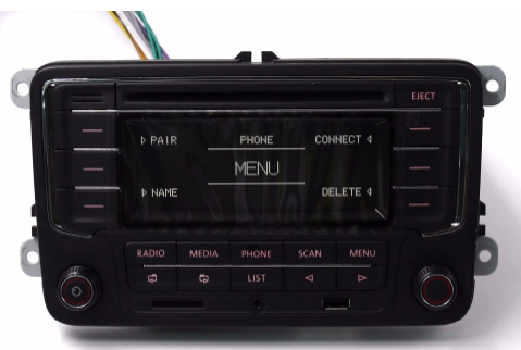 VW Radio USB Bluetooth CD Mp3 AUX RCN210 Original Passat Touran Golf