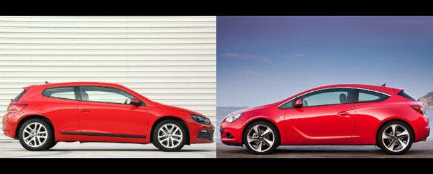 VW Scirocco versus Opel Astra GTC