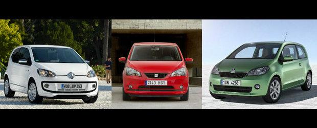 VW Up versus Seat Mii versus Skoda Citigo