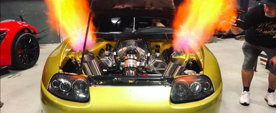 Wasabi Supra are motor turbo de 8.6 litri si scuipa flacari mai ceva ca un dragon din Game of Thrones