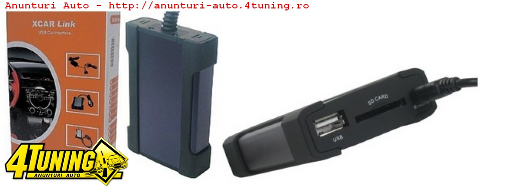 xCarLink magazie mp3 digitala pe USB SD pt RENAULT