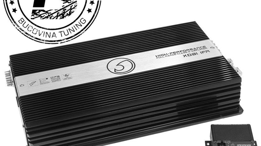 XDB1.1FR 1Ohm Class D Monoblock Full Range 12v Power Amplifier 2470w RMS
