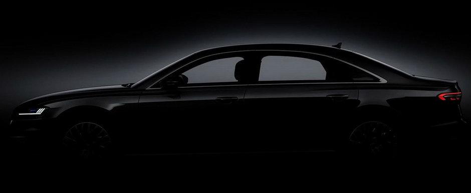 Ziua si teaser-ul. De aceasta data, Audi dezvaluie silueta limuzinei A8