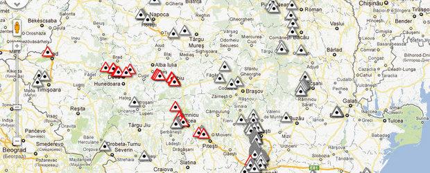 Zonele cu cel mai mare risc de accidente rutiere, semnalizate prin panouri speciale
